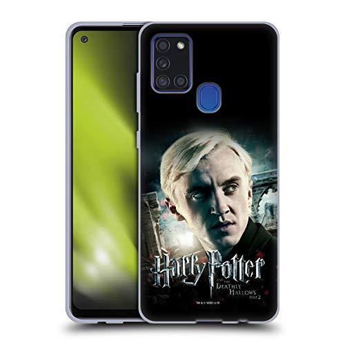 Head Hülle Designs Offizielle Harry Potter Draco Malfoy Deathly Hallows VIII Soft Gel Handyhülle Hülle Huelle kompatibel mit Samsung Galaxy A21s (2020)