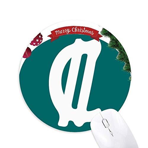 Costa Rica Währungssymbol Colon CRC Rund Gummi Maus Pad Weihnachtsbaum Mat