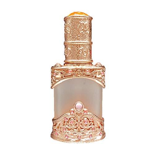 Flacons compte-gouttes en verre vide rétro 12 ml rechargeables pour les huiles essentielles Parfum liquide - Or rose