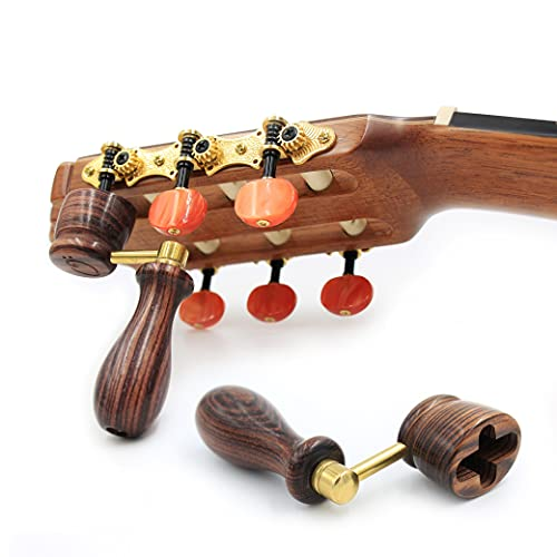 """""""KING"""" Handcrafted Wooden Guitar String Winder by Tenor. Designed For Classical, Flamenco, Acoustic, Electric Guitars and Ukuleles. Made Of Solid Handpicked KING Wood. Beautiful Vintage Look."""