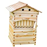 Lang Wooden bee House Honey auto Flow Beehive Box with 7 pcs auto...