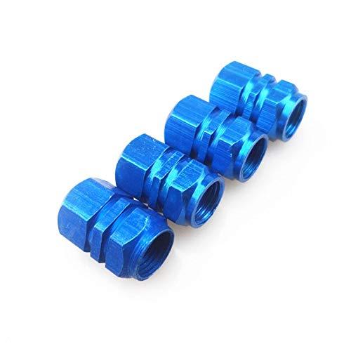 LUCHAO 20 PC/Satz von Auto innigen Zubehör Aluminium 3D Radreifen Ventildeckel Automotor abgedichtet Trockenluftabdeckung (Farbe : Blau)