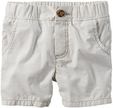 Carter's Boy Pull-On Poplin Shorts; Side Pickets; Off White (7)