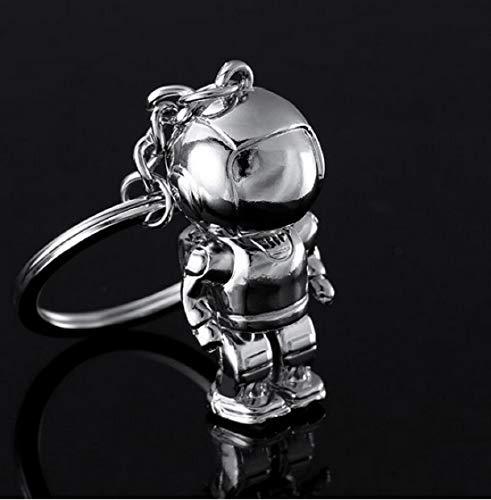 Roboter Astronaut Schlüsselanhänger Figur Silber Geschenk | Kinder | Männer | All | Kosmonaut | Shuttle | Weltall | Galaxie