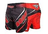 BOOM Prime Mujer Pantalón Corto de MMA Muay Thai Combate Patadas Boxeo Pelea Artes Marciales Engranaje UFC Combate Entrenamiento Shorts - Rojo, M - 31'-33' Waist