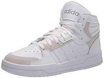 adidas Men s Entrap Mid Basketball Shoe White/Grey/Dove Grey 11.5