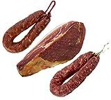 Jamón Serrano Curado Deshuesado 1 kg + Chorizo Extra Sarta Dulce 200 gr + Salchichón 200 gr - Jamonprive