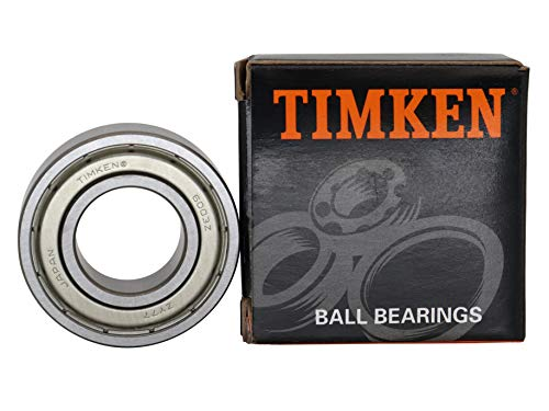 TIMKEN 6003-ZZ 4 Pcs Double Metal Seal Bearings 17x35x10mm, Pre-Lubricated and Stable Performance and Cost Effective, Deep Groove Ball Bearings.