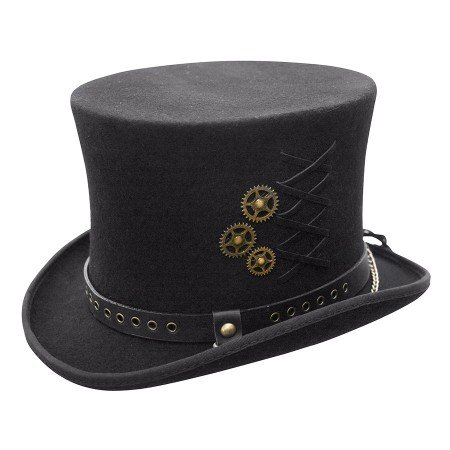 SteamPunk Top Hat, Black, XXL