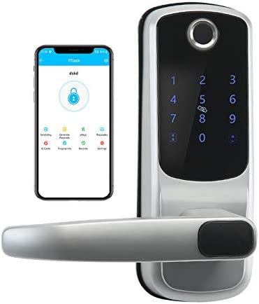 Smart Lock with Touchscreen Bluetooth Electronic Deadbolt Door Lock Compatible with Fingerpint product image