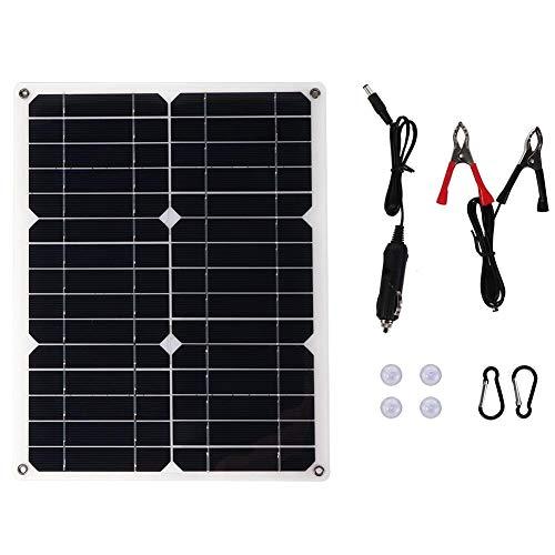 Ymiko Starter Kit Solare Semi-Flessibile in silicio monocristallino 15W 18V per la Ricarica del Telefono di Emergenza in Campeggio