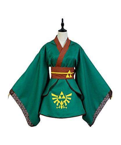 Xiemushop Japanischen Stil Kimono Bademantel Kleid Anime Cosplay Mädchen Anime Link Cosplay Kostüme