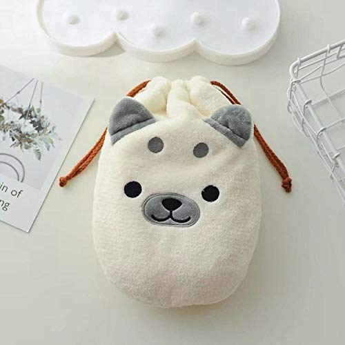 Warm water bag jacket cute Shiba Inu plush hot water bottle cover water warm hand bag soup Pozi cloth warm water bag jacket@white_Large 28 * 20 cm