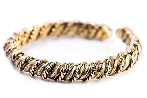 WINDALF Gekordelter Damen Ring TARÎNA h: 0.3 cm Offener Bronzering Freundschaftsring Vintage Edle...