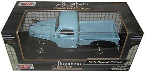 1941 Plymouth Pickup Truck lumière bleu noir 1 24 by Motormax 73278 by Motormax