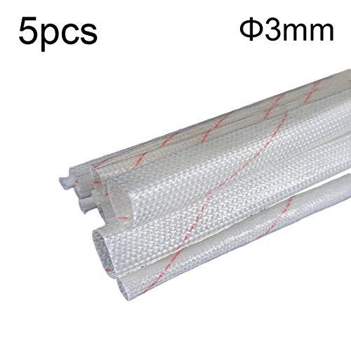 Robluee Muffe, isolierend, Polyethylen, für Elektrokabel, feuerfest, isolierend, aus Glasfaser, Trecciata, Hitzeschutz, hohe Temperaturen, 5 Stück