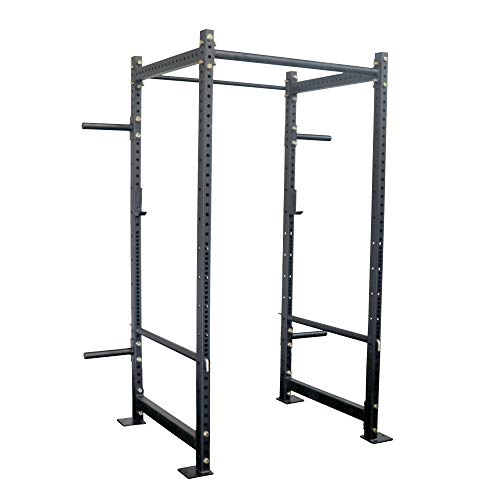 """Titan Fitness T-3 4,400 LB Capacity Tall Power Rack 36"""" Depth with Safety Bars and J Hooks Strength Training Equipment"""