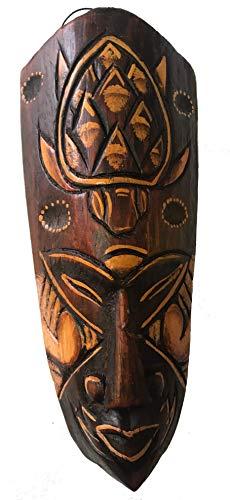 Máscara pintada, 20 cm, máscara de madera de Bali, máscara de pared Motivo: tortuga