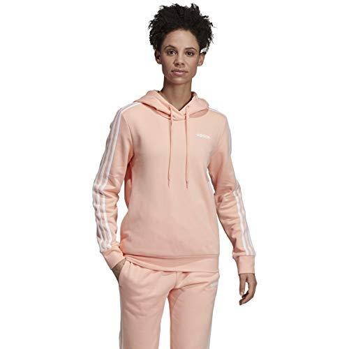 adidas 3-Stripes Hoodie - Women's Casual L Pink Glow/White