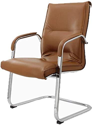 G.S.N. GSN Schleife hinten Stuhl, PU-Leder-Stuhl for Home/Studium/Schlaf/Computer/Konferenz/Mitarbeiter/Mahjong Zimmer Schwarz 58x58x100CM Sessel (Color : Brown)