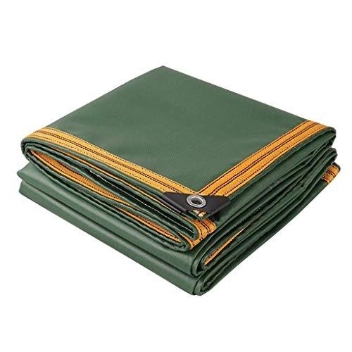 KHFFH dekzeil 650GSM Persenning plank zware tuin afdekking verdikt terras meubilair afdekking vissen pot kinderbad beschermhoes, groen (grootte: 3x6m), maat: 5x7m