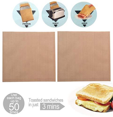 2 Toastapockets - wiederverwendbar - machen Sie ein perfektes Toasted Sandwich - kein Aufwand- kein Unordnung