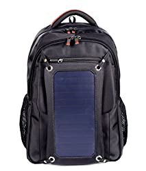 PACK Solar Backpack Outdoor Charging Bag Solar Battery Charger Shoulder Bag Travel Bag, B: DarkBlue