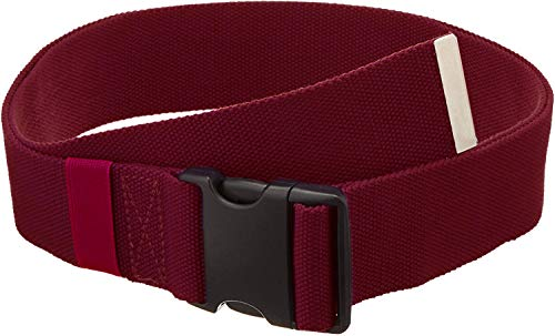 Gait Belt with Plastic Buckle by LiftAid - Transfer and Walking Aid with Belt Loop Holder for Assisting Therapist, Nurse, Home Care - 60L x 2W (Burgundy)