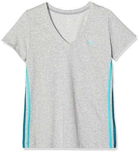 Adidas Dames Seess V-T-Shirt, Mgreyh/Vivmin, L