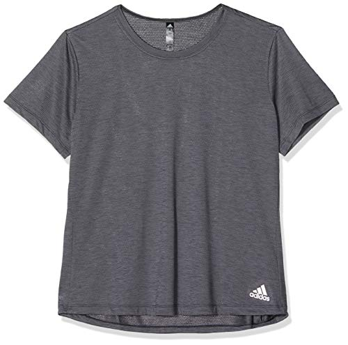 adidas Womens Performance T-Shirt, Black Melange, L