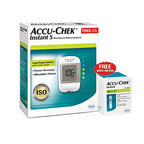 Accu-Chek Instant S Glucometer with Free Test...