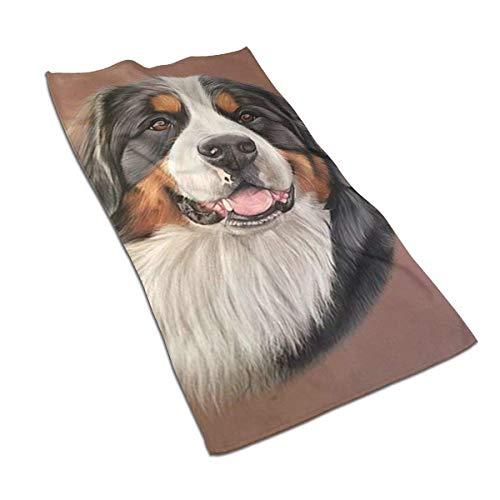 Toallas de Mano Toalla de baño Fina para Perros de Chocolate, Toalla de baño pequeña Ultra Suave Altamente Absorbente Decoración de baño, 27,5 x 15,7 Pulgadas