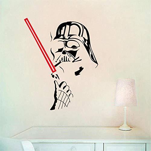 Art Wall Sticker_Star Wars Wallpaper Star Art Etiqueta de la Pared Etiqueta Desmontable Art Clone Boy Decoración de la habitación 50cmx63cm