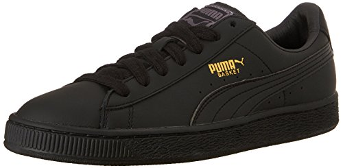 PUMA mens Basket Classic Lfs Fashion Sneaker, Black/Team Gold, 10.5 US