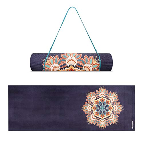 Trideer Yoga Mat, Premium Print 6mm&4mm, Non Slip Exercise & Fitness Mat, Lightweight Anti-Tear All-Purpose Floor Pilates Mat,with Carrying Strap for Yoga...