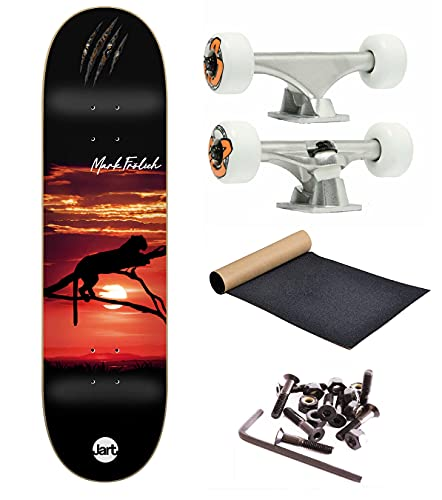 Komplettes Skateboard-Set mit 140 mm für 8,0 Zoll (8,0 Zoll) Board (Bullet Kit - Og Wheels - Jart Lion 8.0)