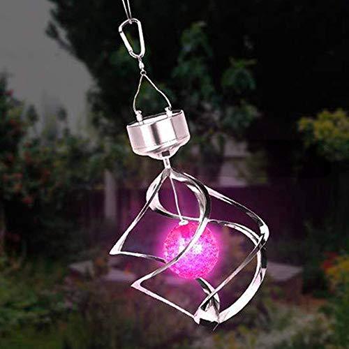 YASHANG Solar klok met lichtsensor, Vento Rotor, Crystal Ball Garden Light Goud