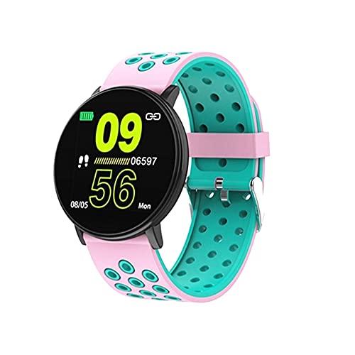 QIXIAOCYB W8 Sports Smart Watch Bluetooth IP67 podómetro ritmo cardíaco monitor de presión arterial para mujeres y hombres Fitness Tracker reloj para Android iOS, E.,