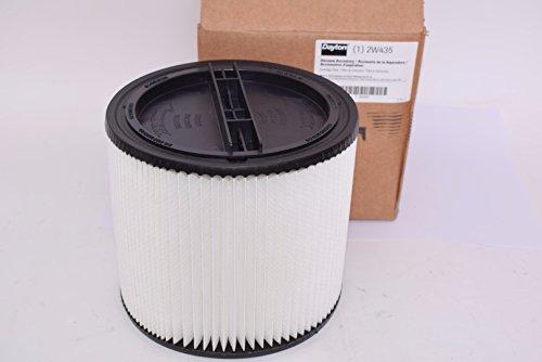 Dayton Filter, Dry, Cartridge Filter, Paper, 6-1/2', White