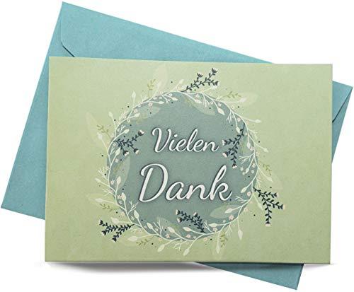 25 Dankeskarten (Klappkarten) – SET mit Umschlägen. Hochzeit, Taufe, Konfirmation, Kommunion, Ruhestand, Geburt, Geburtstag, Weihnachten, Mitarbeiter Danke