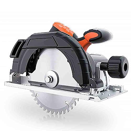CNRGHS Handcirkelzaag, elektrische cirkelzaag, 7 inch multifunctionele cirkelzaag, draagbare kettingzaag, geschikt voor houtbewerking thuis Flip