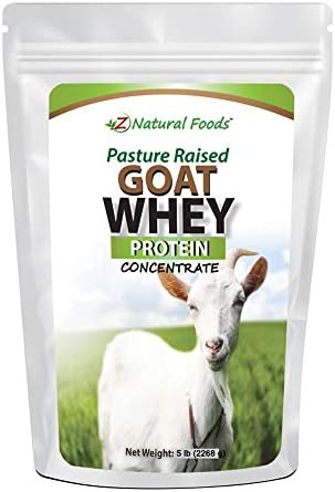 Goat Whey Protein Powder Concentrate Bulk 5 lb Size Unflavored Undenatured Grass Fed in USA product image