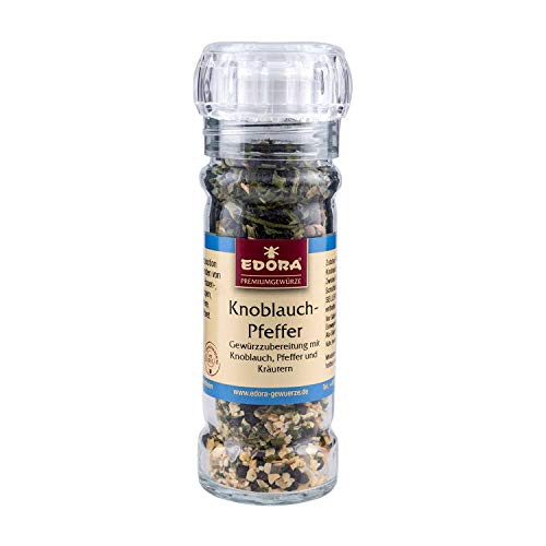 Premium Qualität Gewürz Mühle wiederbefüllbar Knoblauch Pfeffer Gewürzzubereitung Gewürzmühle mit Keramikmahlwerk 50 Gramm