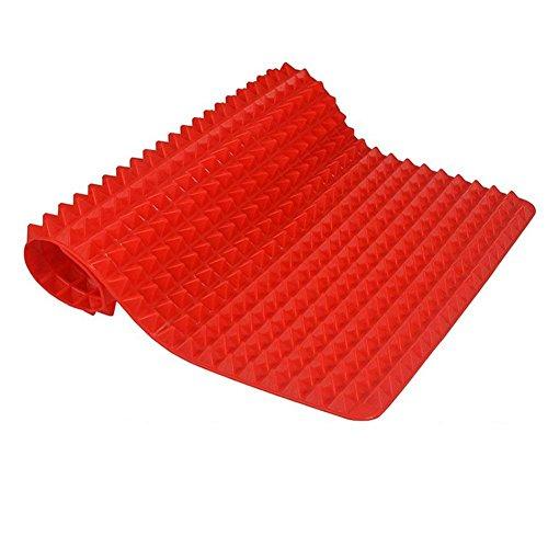 Lumanuby Tapis de cuisson anti-adhésif en silicone pour four à micro-ondes, tapis de cuisson réutilisables, durables et résistants à la chaleur pour griller la viande, les légumes, les fruits de mer