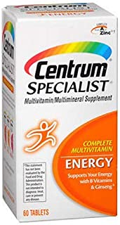 Centrum Specialist Energy Tabs 60 ea (Pack of 4)