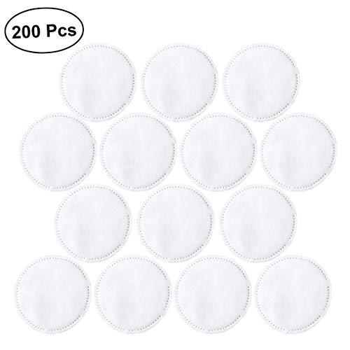 Lurrose Lot de 200 tampons ronds épais en coton 3 couches doux jetables