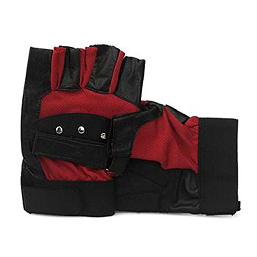 Tutuba Men's Leather Glove Warm Outdoor Sports Bike Fingerless Gloves Wholesale Mesh
