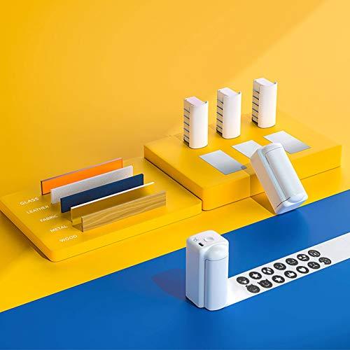 InLoveArts Tragbarer Drucker, kompakter Tintenstrahldrucker mit schnell trocknender wasserfester Tinte, Text-APP-Drucker, DIY