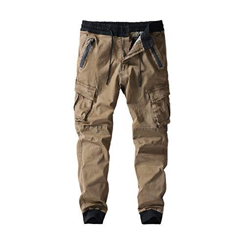 Yowablo Leggings Sportleggings Fitnesshose Polyesteranzug Haremshose Pumphose Revend Skinny Jeans Straight Jeans (36,2- Khaki)