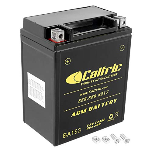 Caltric compatible with Agm Battery Suzuki Ltf300F Ltf-300F King Quad 300 4X4 1999-2002